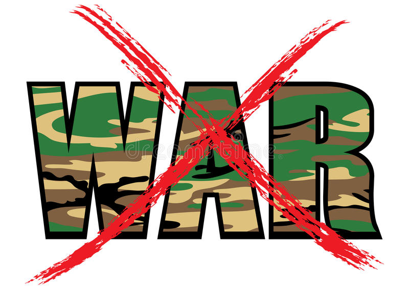 Nicht Krieg lizenzfreie abbildung
