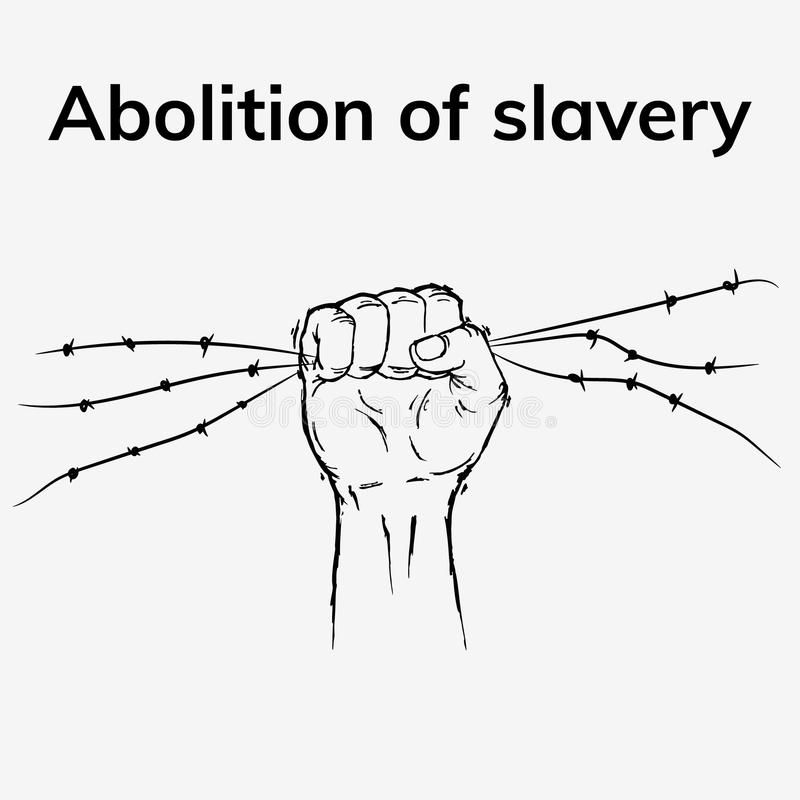 Nicht mehr Sklaverei lizenzfreie abbildung