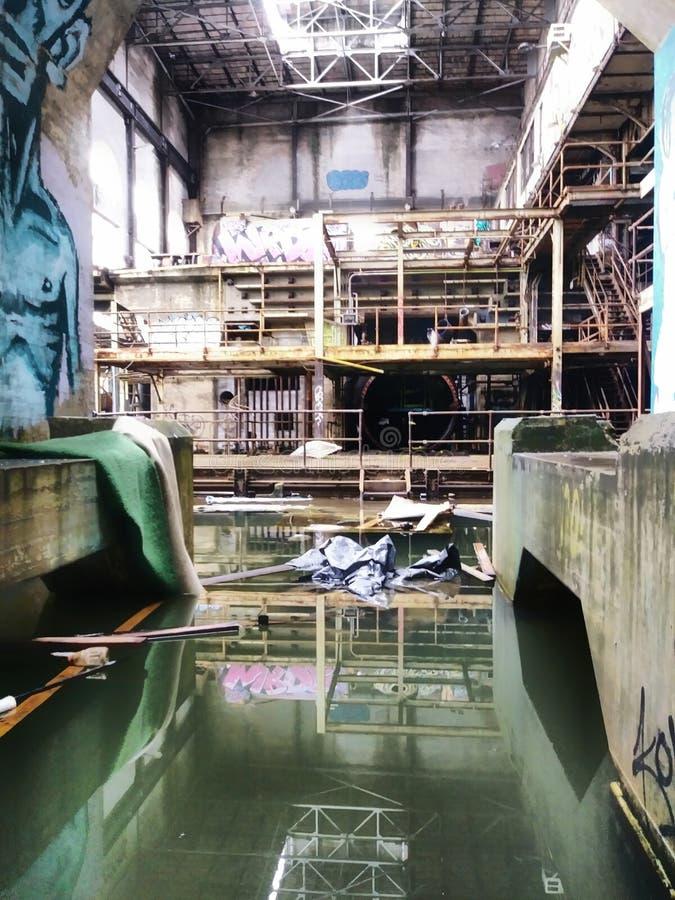 Nicht mehr unter Wasser Market Street-Kraftwerk New Orleans Louisiana stockfotos