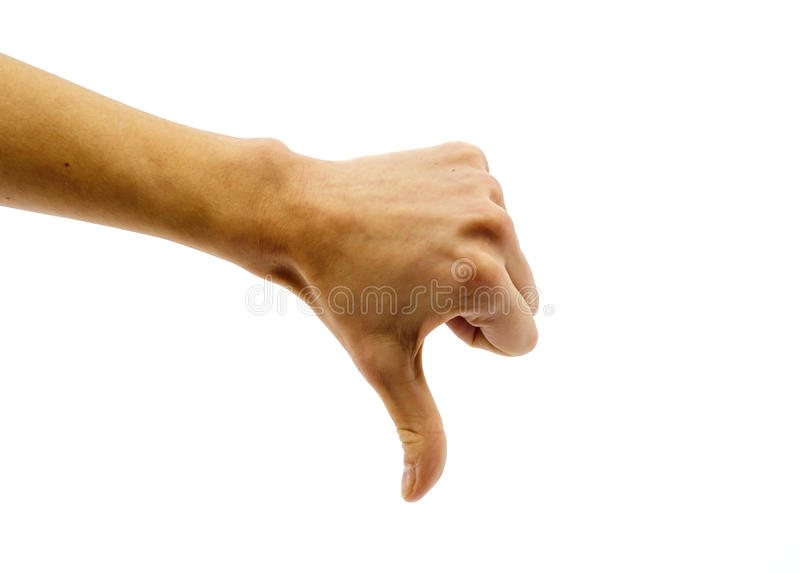 Nicht O.K. - Handzeichen lizenzfreie stockfotografie