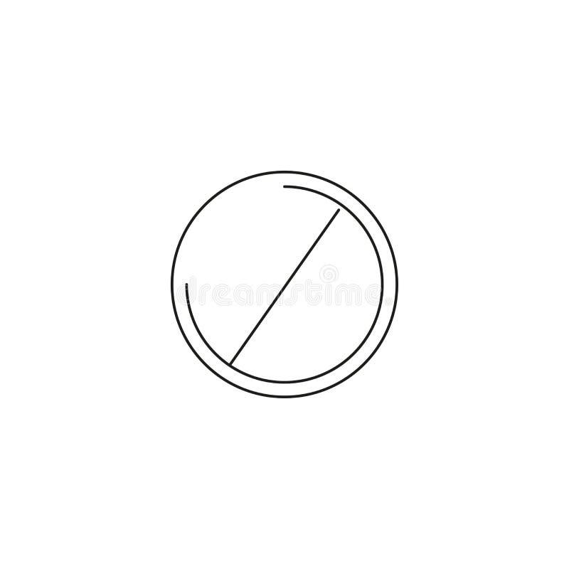 Nicht tun Eintrittsikone; Verbotszeichen; verboten nicht gewährt; Grafiken; ein lineares Muster auf einem weißen Hintergrund; ENV vektor abbildung