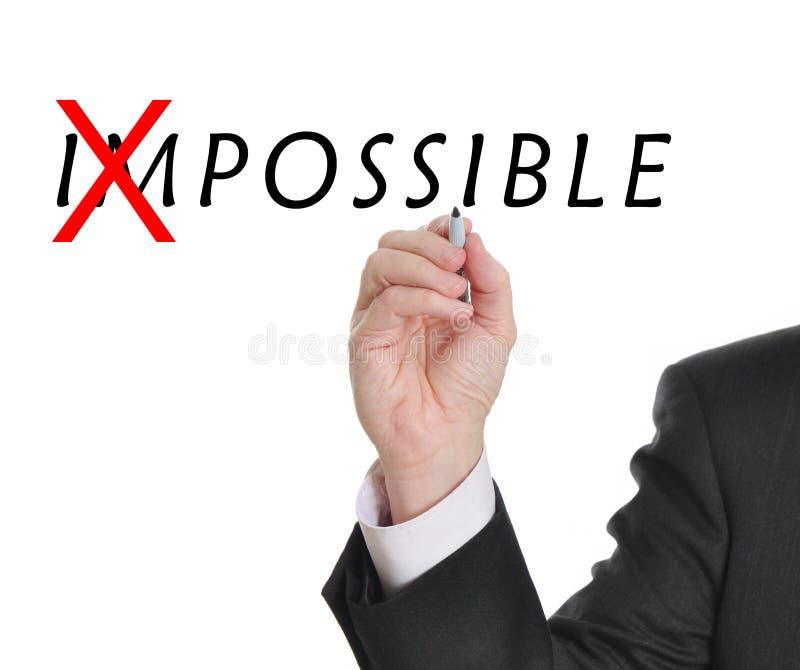 Nicht unmöglich stockfoto