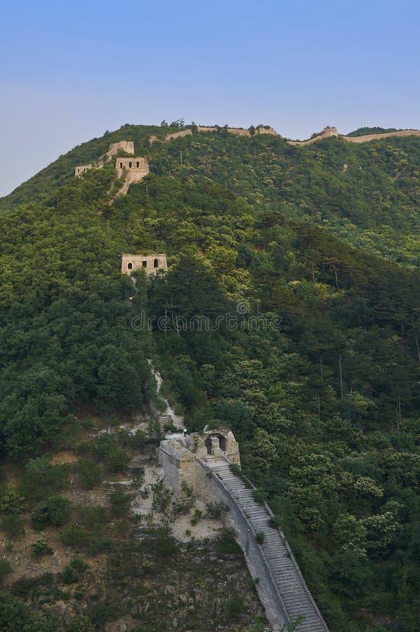 Nicht zurückerstatteter Abschnitt der Chinesischen Mauer, Zhuangdaokou, Peking, China stockbild