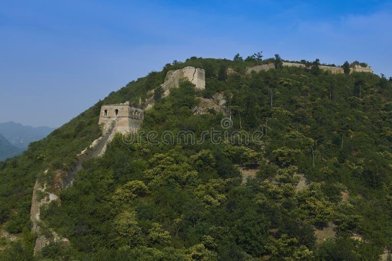 Nicht zurückerstatteter Abschnitt der Chinesischen Mauer, Zhuangdaokou, Peking, China lizenzfreies stockbild