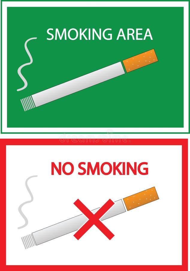 Nichtraucher- und Raucherzonezeichen lizenzfreie abbildung