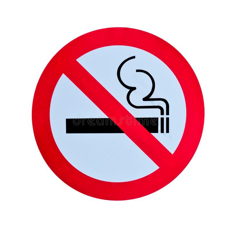 Nichtraucherwarnzeichen trennte lizenzfreie stockfotos