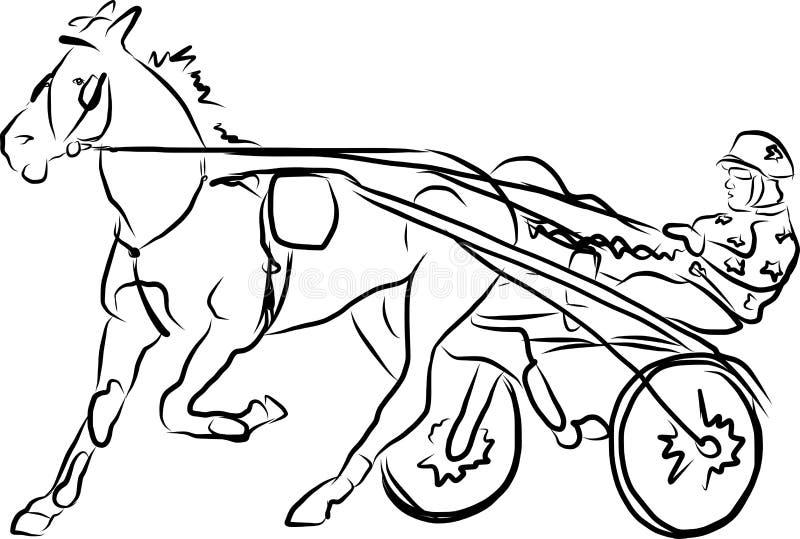 Nicielnica biegowi konie ilustracja wektor