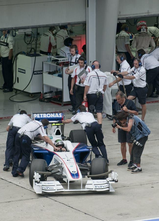 Nick 2009 Heidfeld am Malaysian F1 großartiges Prix lizenzfreie stockfotografie