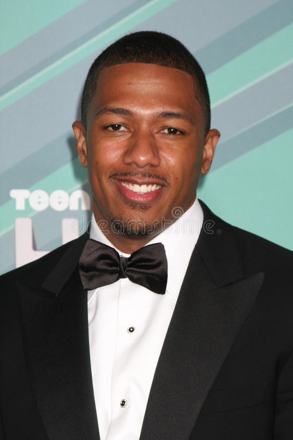 Nick Cannon. LOS ANGELES - OCT 26: Nick Cannon arriving at the 2011 Nickelodeon TeenNick HALO Awards at Hollywood Palladium on October 26, 2011 in Los Angeles royalty free stock photos