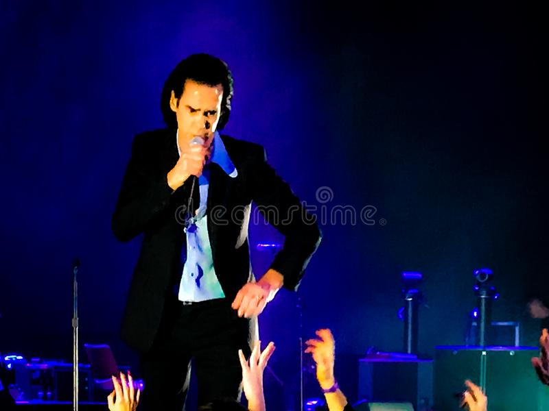 Nick Cave & The Bad Seeds in Concert in Vienna royalty free stock photo