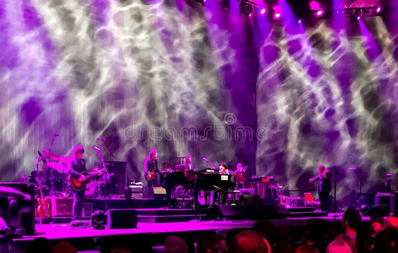 Nick Cave et les mauvaises graines de concert à Vienne photo libre de droits