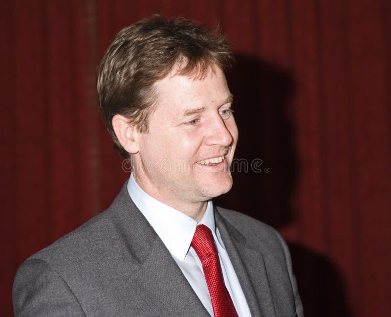 Nick Clegg: Viceprimer ministro Gran Bretaña. foto de archivo libre de regalías