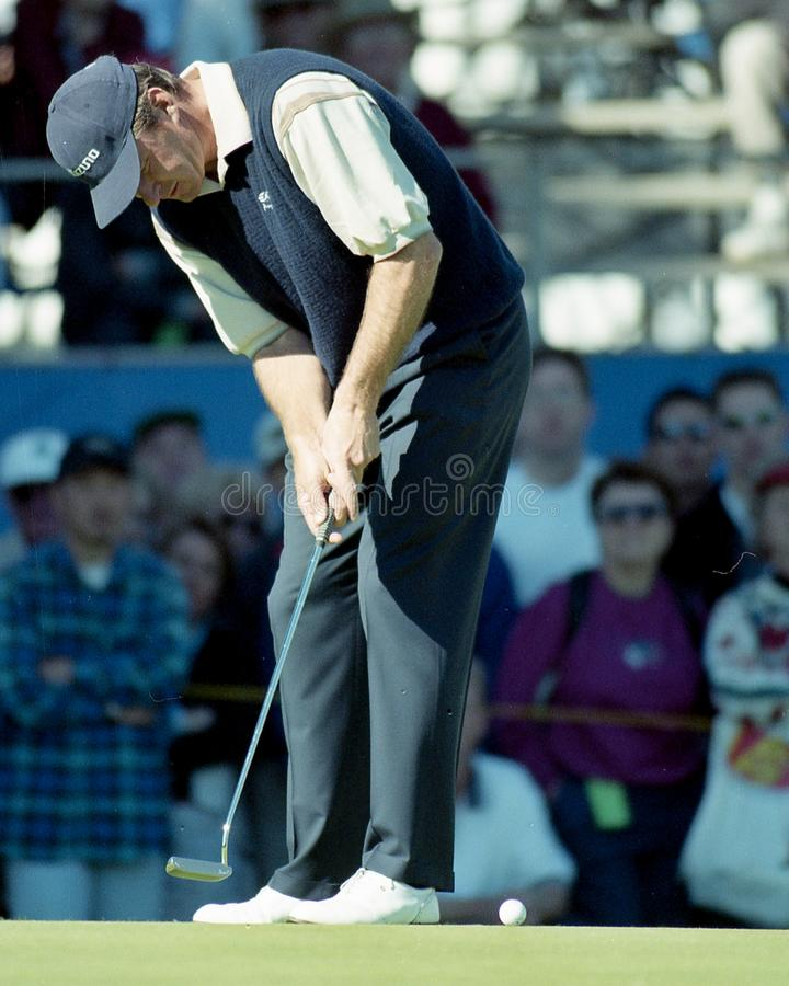 Nick Faldo. Professional Golfer superstar Nick Faldo. Image taken from a color slide royalty free stock photo