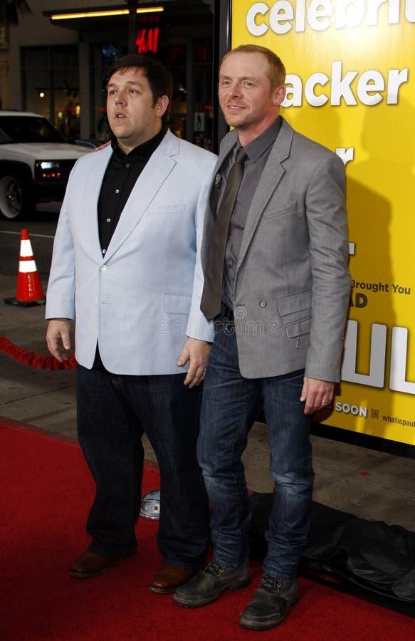 Nick Frost y Simon Pegg fotografía de archivo