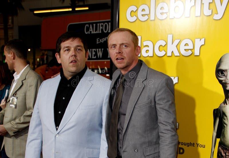 Nick Frost y Simon Pegg foto de archivo