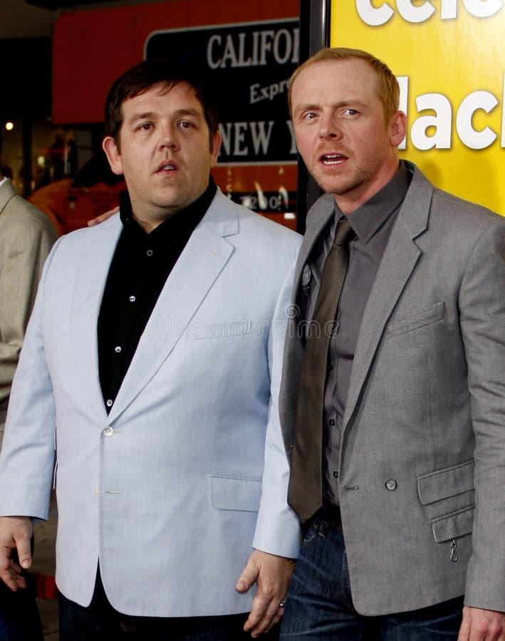 Nick Frost y Simon Pegg fotos de archivo