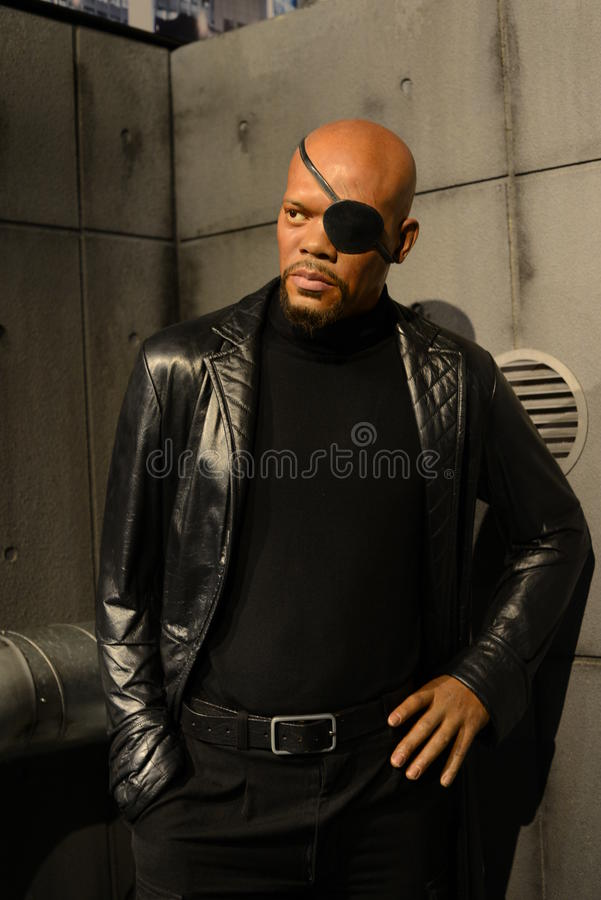 Nick Fury - vingadores da maravilha fotografia de stock