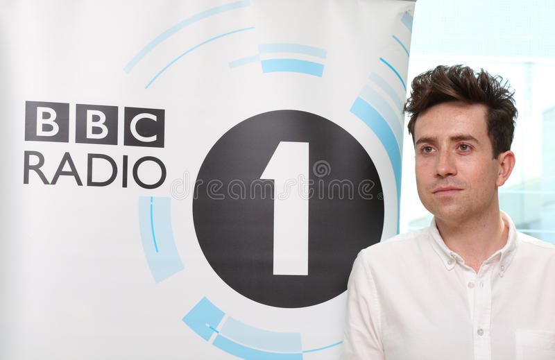 Nick Grimshaw. Is announced as the new presenter of Radio 1's Breakfast show at BBC New Broadcasting House London, England. 11/07/2012 Picture by: Henry Harris stock photos