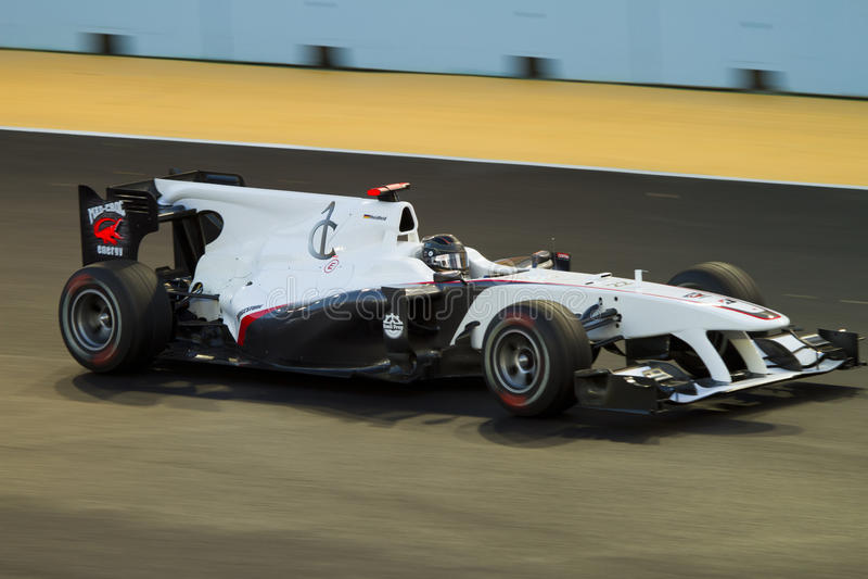Nick Heidfeld. On Grand Prix Singapore 2010, Formula 1 night race - team BMW Sauber F1 royalty free stock photos