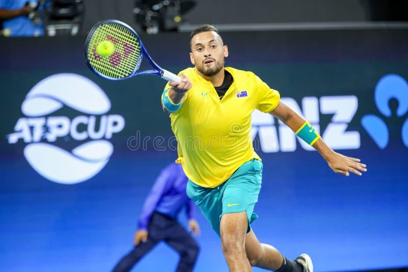 Brisbane ATP Cup 2020, Australia vs Greece stock photos