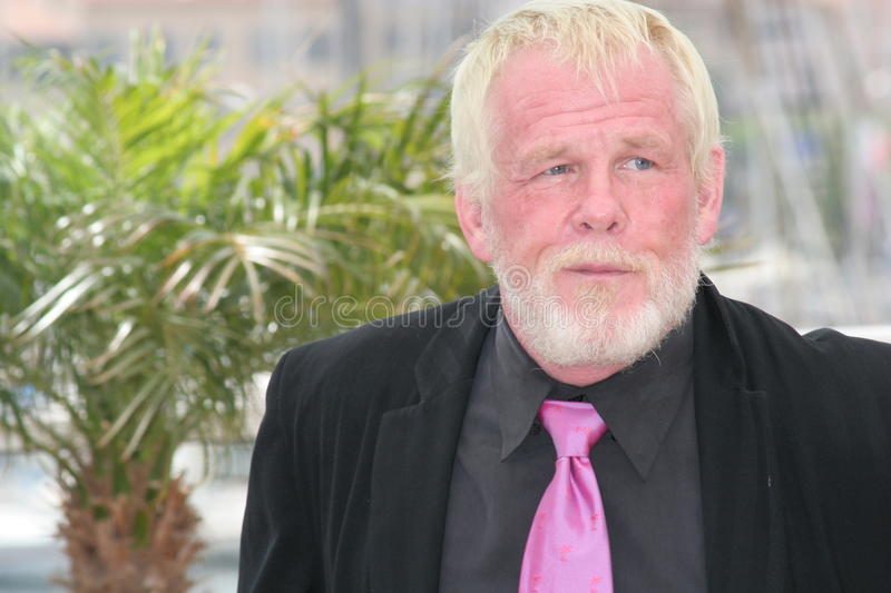 Nick Nolte. CANNES, FRANCE - MAY 18: Actor Nick Nolte attends a photocall promoting the film 'Paris Je T'aime' during the 59th International Cannes Film Festival royalty free stock photo