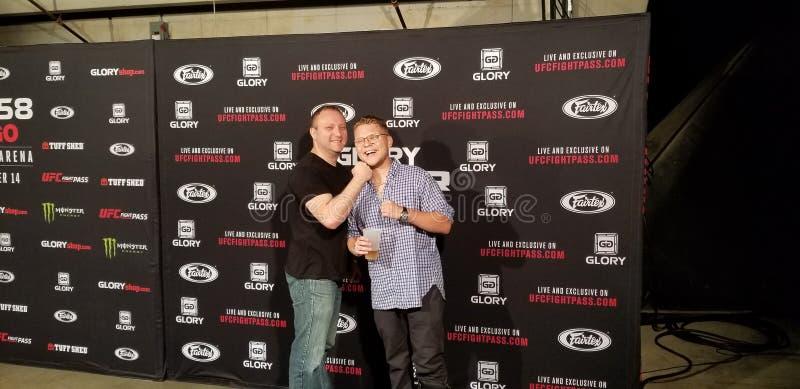 Nick Rutman And Yuri Rutman At UFC Fight Pass Glory Championships royalty free stock photo