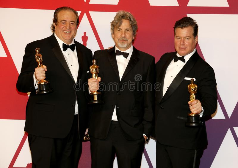 Nick Vallelonga, Peter Farrelly et Brian Currie photo libre de droits