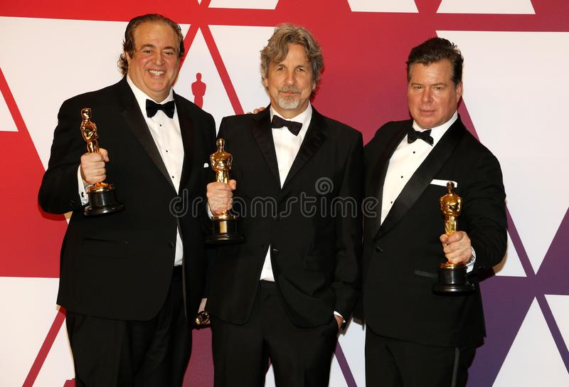 Nick Vallelonga, Peter Farrelly et Brian Currie photographie stock