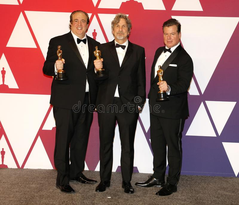 Nick Vallelonga, Peter Farrelly et Brian Currie image stock