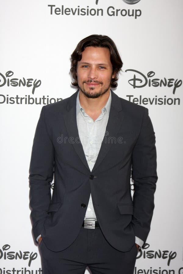 Nick Weschsler chega no International Upfronts do ABC/Disney fotografia de stock royalty free