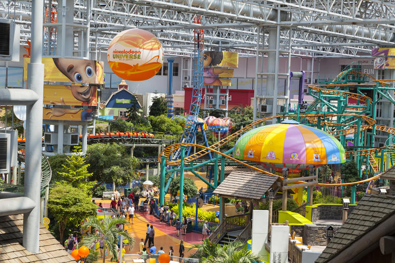 Nickelodeon Universe at the Mall of America in Bloomington, MN o. BLOOMINGTON, MN - JULY 06, 2013 - Mall of America on July 06, 2013 in Minnesota. Nickelodeon royalty free stock photo