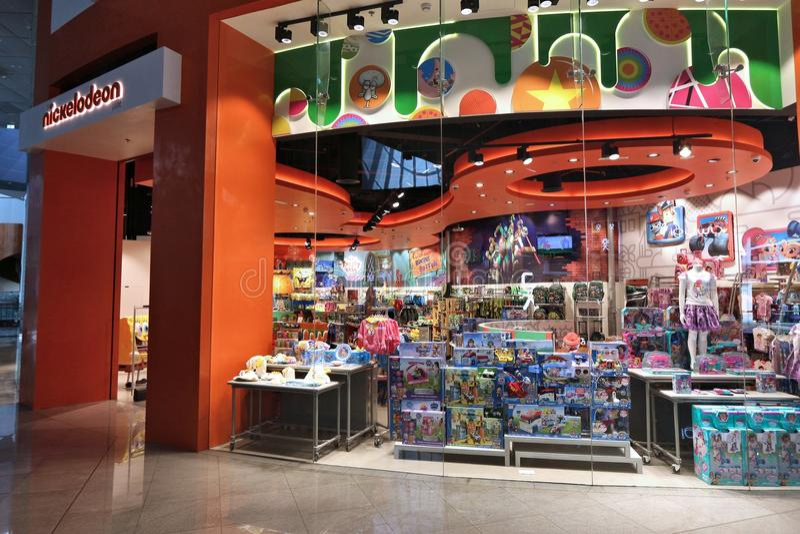 Nickelodeon zabawkarski sklep fotografia royalty free