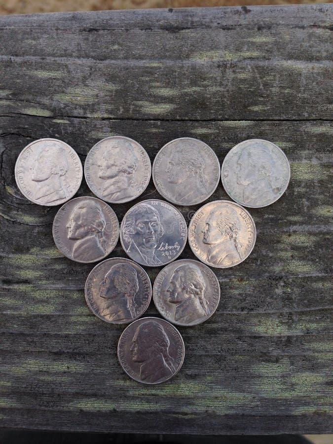 nickels images libres de droits