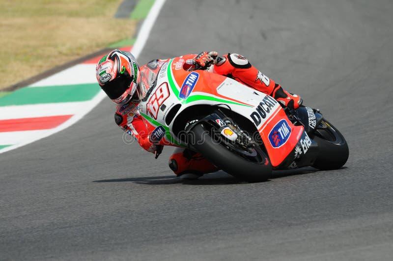 Nicky Hayden DUCATI MotoGP 2012 lizenzfreies stockbild