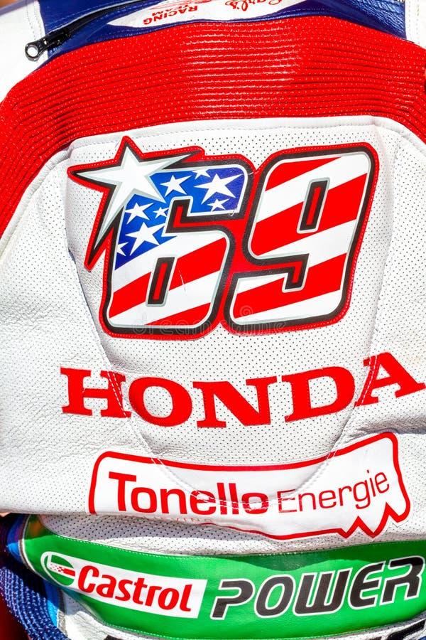 Nicky Hayden-Pilot von Superbikes SBK lizenzfreie stockfotos