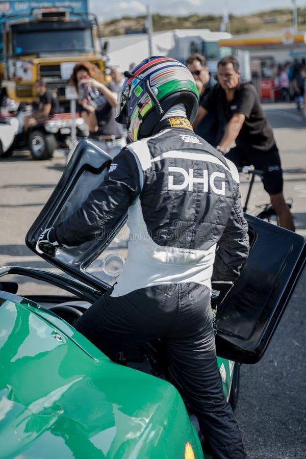 Nicky Pastorelli DHG ściga się Lola T70 MK3B fotografia stock