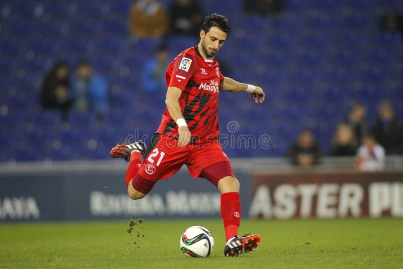 Nico Pareja von Sevilla FC stockfotos