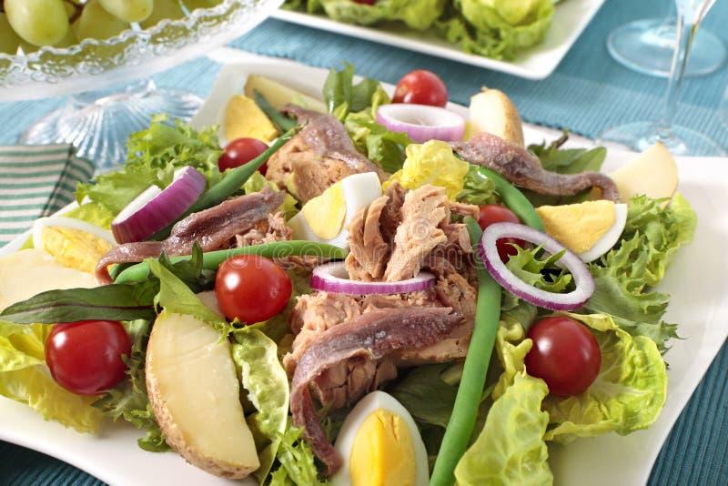 Nicoise Salat stockfotos