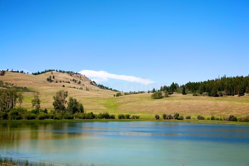 Nicola谷的湖 库存图片