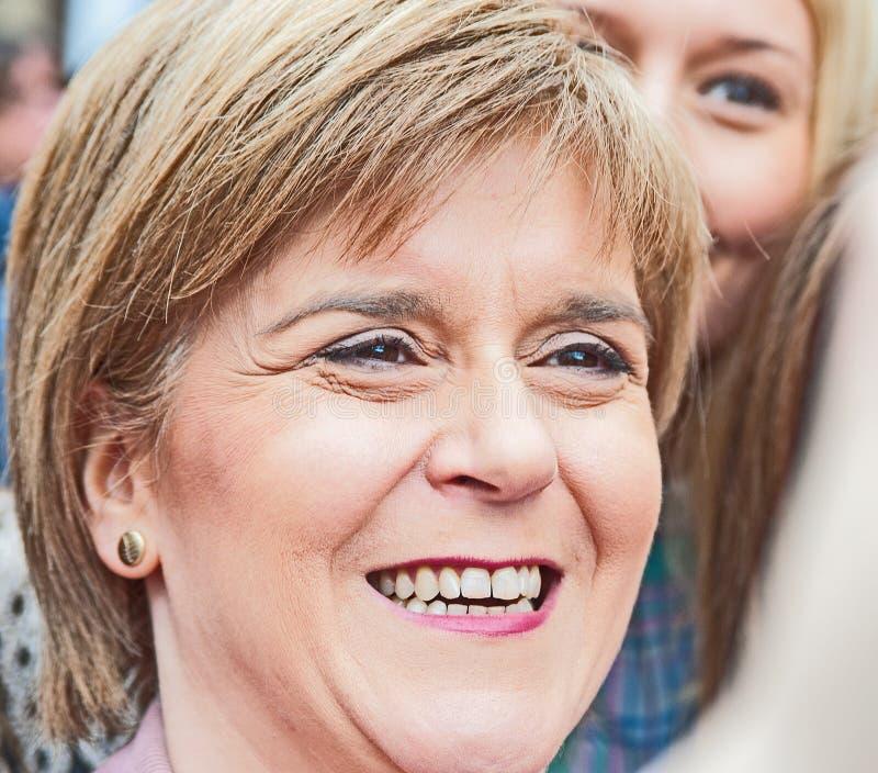 Nicola鲟鱼,苏格兰人第一位大臣 免版税图库摄影
