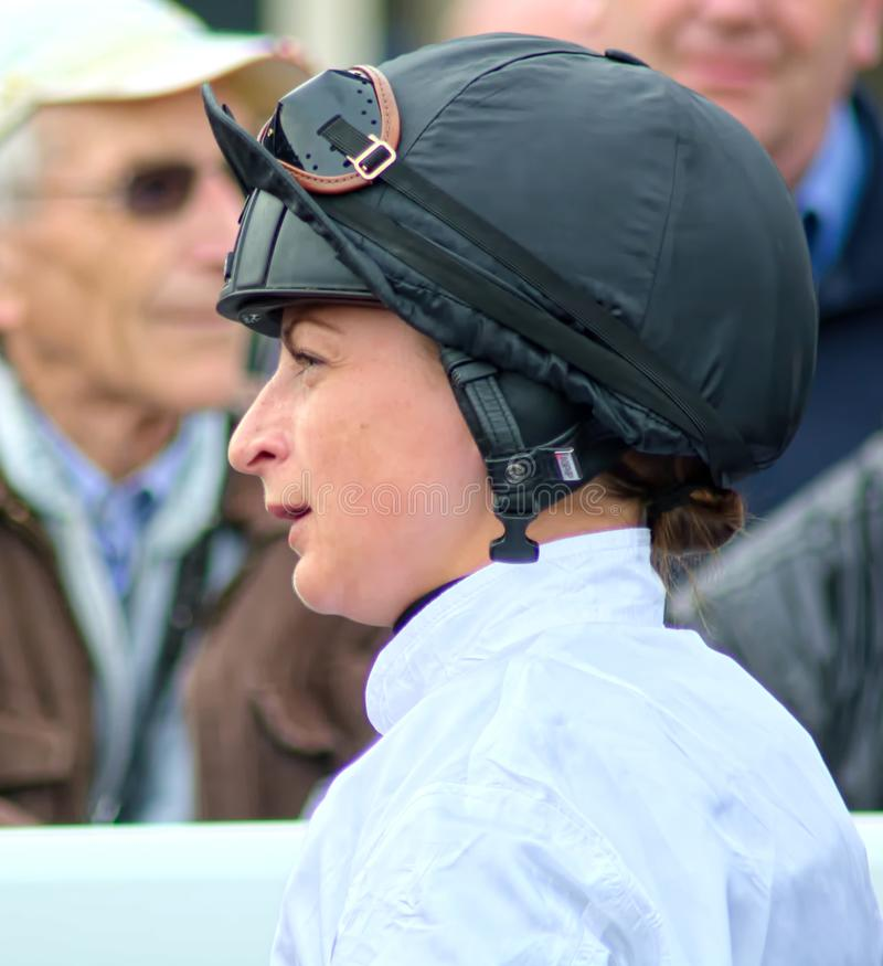 Nicola Currie, Madame Jockey de l'année 2018 photo libre de droits