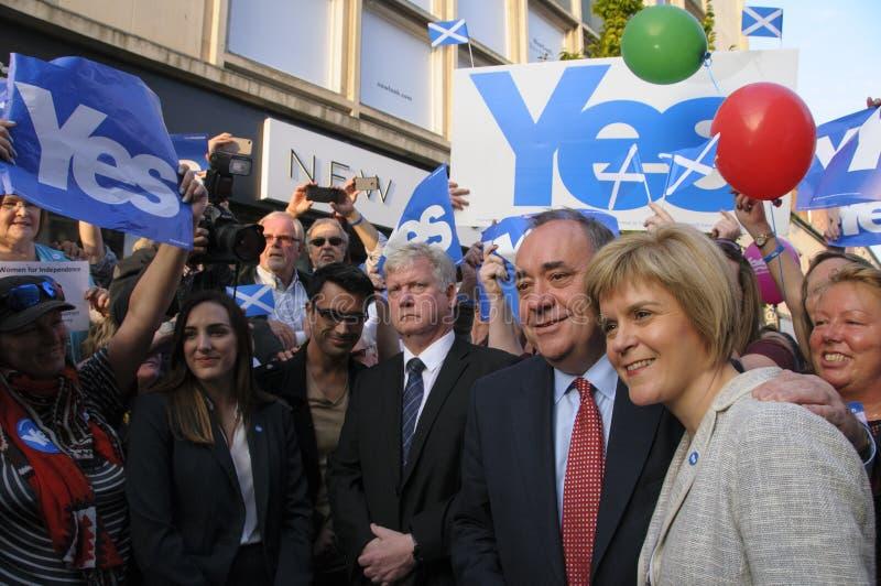 Nicola Sturgeon and Alex Salmond Indy Ref. SCOTLAND Perth -- 12 Sep 2014 -- First Minister Alex Salmond and Deputy First Minister Nicola Sturgeon during a royalty free stock photo