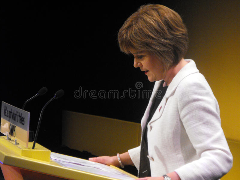 Nicola Sturgeon, Scottish Health Minister royalty free stock photo