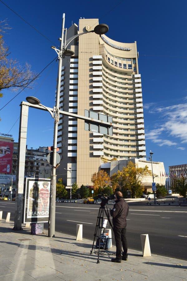 Nicolae Balcescu Boulevard, Boekarest royalty-vrije stock foto's