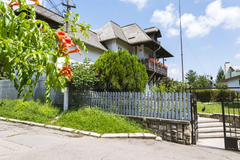 Nicolae Grigorescu Memorial Museum en Campina, Rumania imágenes de archivo libres de regalías