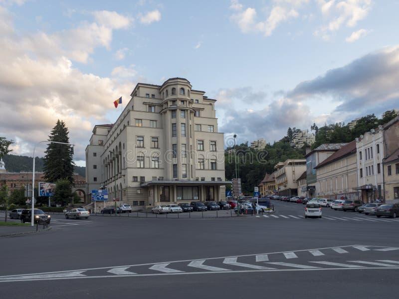 Nicolae Iorga street in Brasov, Romania royalty free stock images