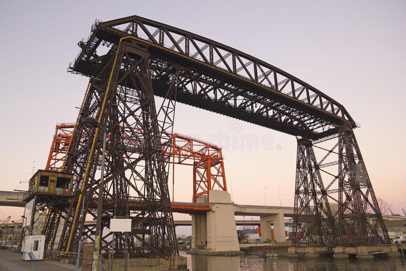 Nicolas Avellaneda Bridge, Buenos Aires fotografia de stock
