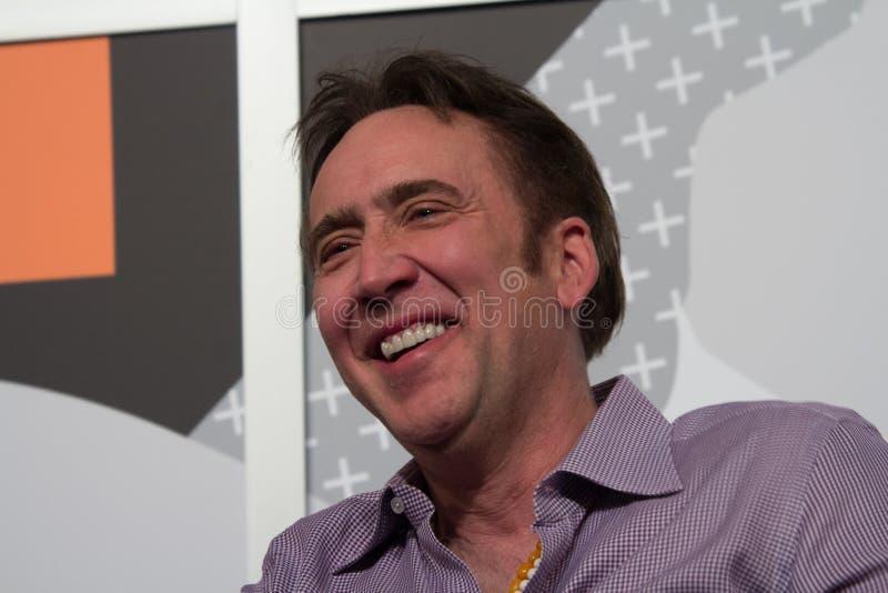 Nicolas Cage en SXSW 2014 fotografía de archivo libre de regalías