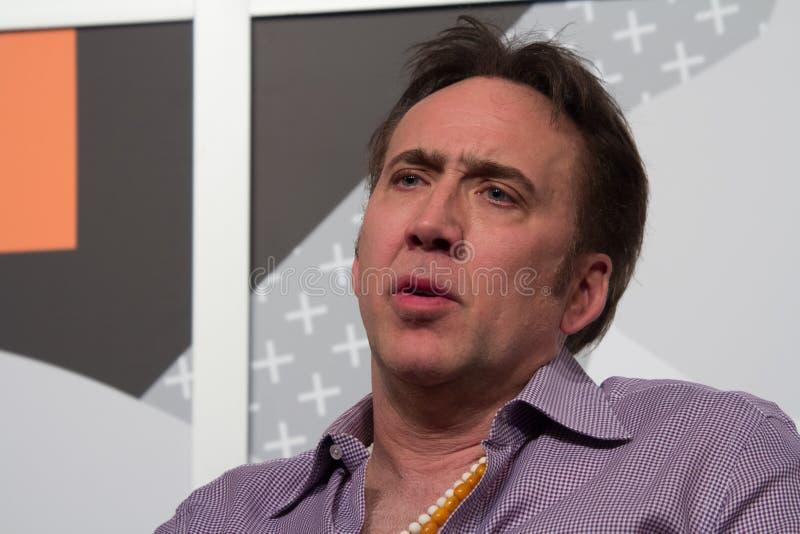 Nicolas Cage en SXSW 2014 imagenes de archivo