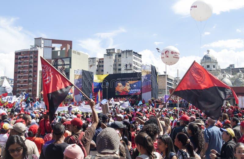 Nicolas Maduro s'enregistrant comme candidat pour l'élection présidentielle au Venezuela photo stock